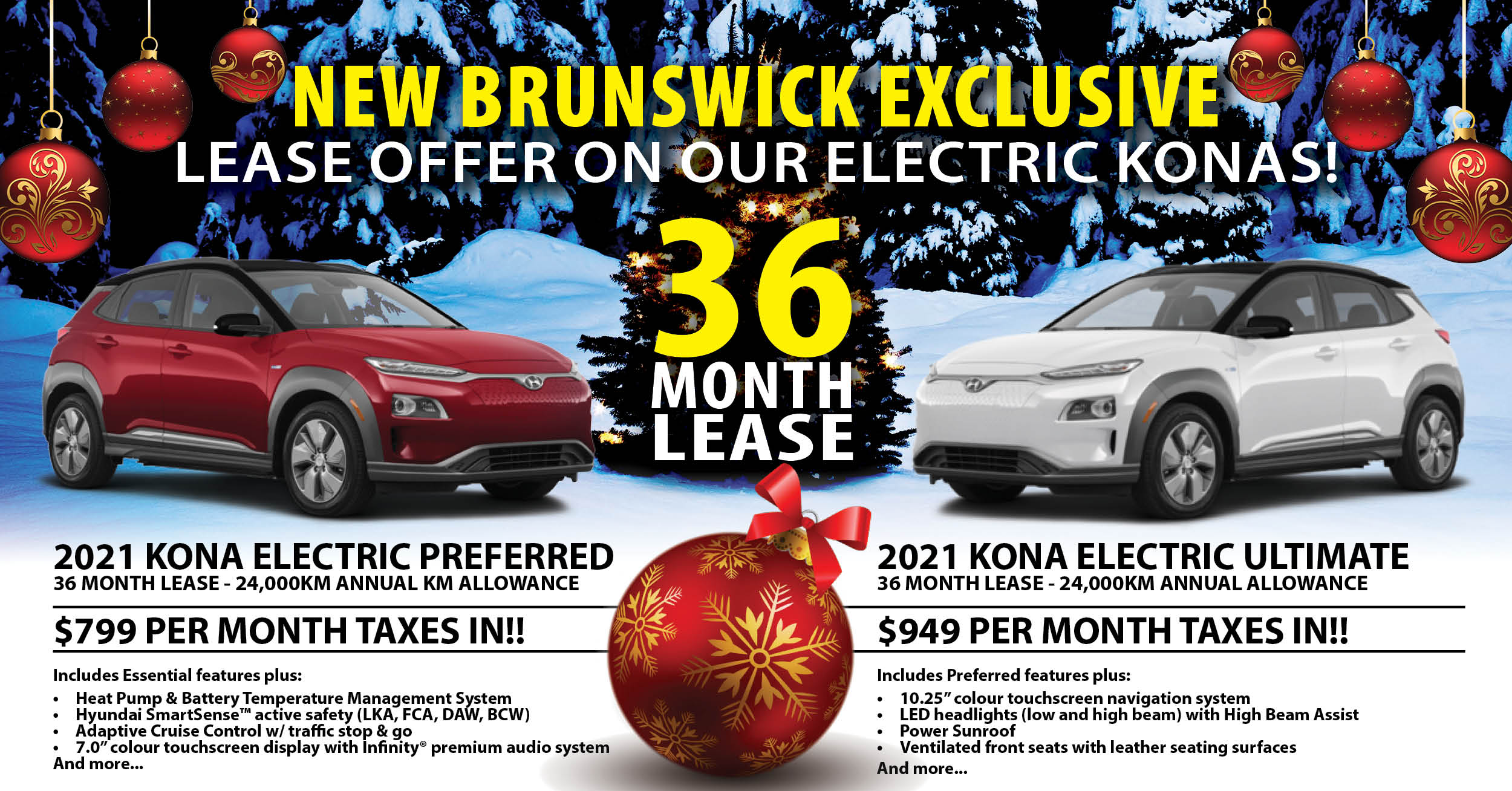Electric Kona 36 Month Lease! Incredible deals!